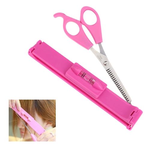 Professional Bangs Trimming Set Hair Scissors Ruler Hairdressing Tools