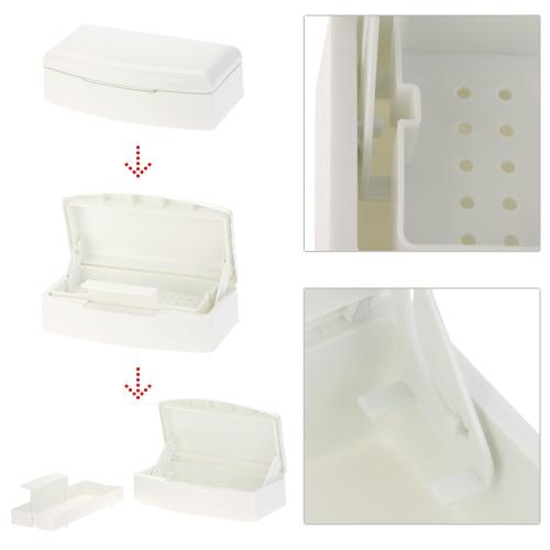 Про ногтей искусство пластиковые стерилизатор лоток дезинфекции Салон красоты маникюр инструмент поле стерилизации лоток