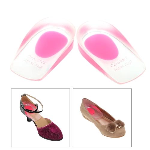 1 Pair Soft Foot Heel Cups Cushion PU Shoe Pads Half Insoles Anti-slip Feet Care Protector