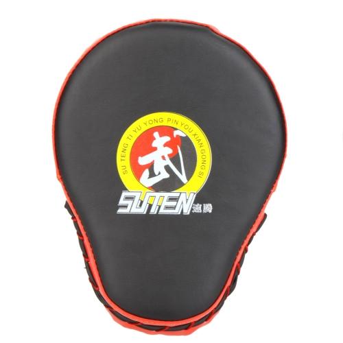 PU cuero Mitt de boxeo entrenamiento blanco Focus Punch Pad guante Muay Thai Sanda Kick MMA Taekwondo
