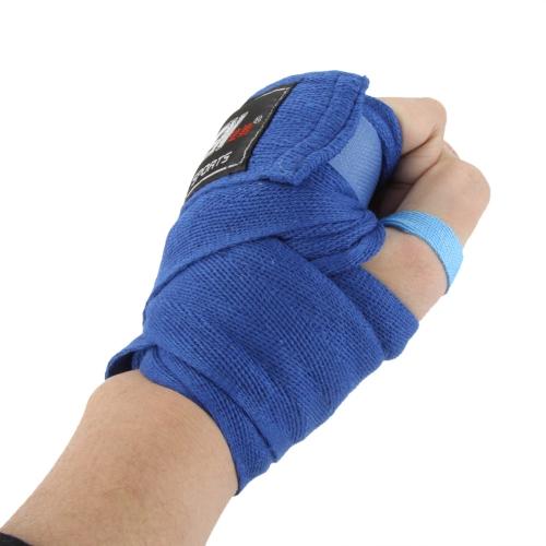 2pcs / Rolle Breite 5 cm Länge 2.5M 100% Baumwollsport Strap Boxen Sanda Muay Thai MMA Taekwondo Verband Bandagen
