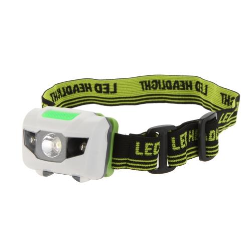 Lixada Mini LED Faro Headlight lámpara de cabeza blanco 3 Modos con 2 rojo linterna para excursionismo campamento equitación ciclismo Senderismo Trabajo Noche Pesca 3W