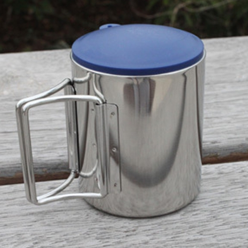 Thermal Camping Travelling Mug Cup Stainless Steel Water Cup Double Layer 220ml