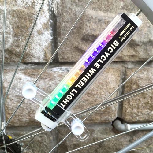 Lixada 16 Bunte LED Leuchten 42 Patterns Wasserdicht Fahrrad Speiche Licht Lampe