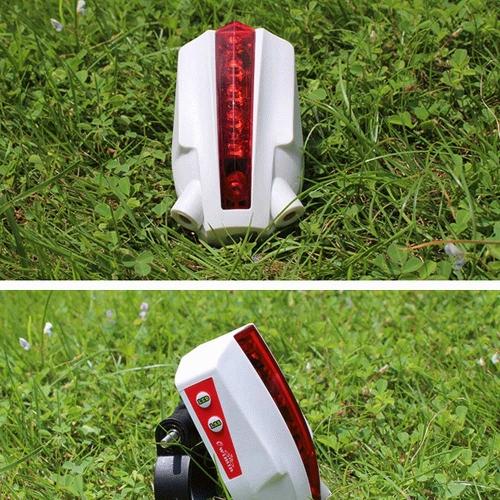 8 режимов 3 шаблоны интеллигентая(ый) велосипедов хвост задние светодиодные беспроводной торможения предупреждение лампа проекции версия логотипа