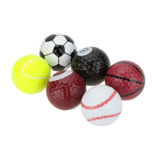 6pcs deportes creativos Golf bolas novela doble dos piezas de la bola