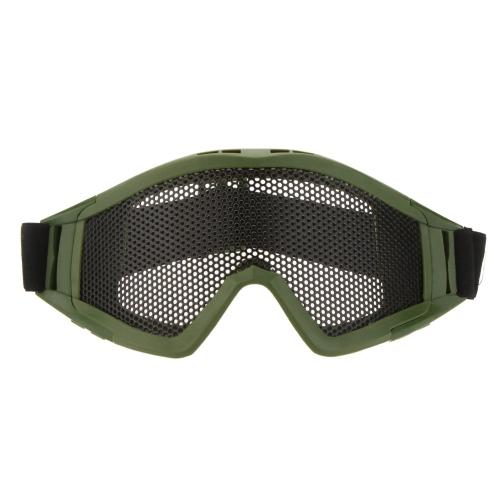 エアソフトゲームスポーツのための調節可能なベルトゴーグル軽量防曇耐衝撃目の保護メタルメッシュメガネ