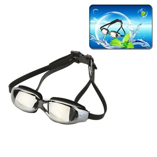 Мода унисекс воды спортивной щит УФ противотуманные защиты водонепроницаемые очки очки очки бассейн с ухо свечи двойного голову ремни
