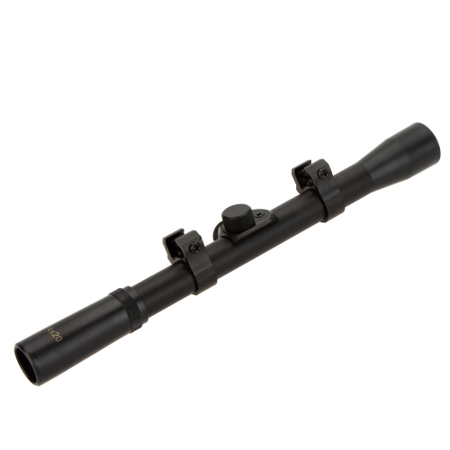 Caza táctico 4 x 20 vista alcance visor para .22caliber Rifles y armas de Airsoft