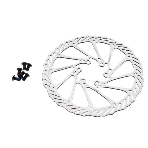 Lixada 160mm freno de disco rotores 6 pernos de acero inoxidable para MTB montaña carretera bicicleta ciclismo bici partes accesorio