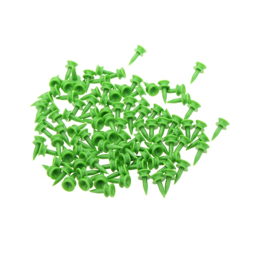 100pcs doble cubierta plástica Golf Tee 23 Tees mm verdes