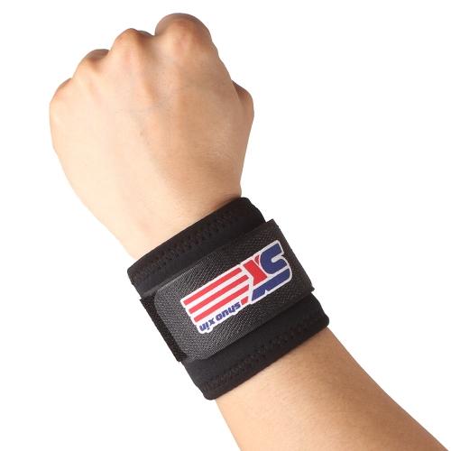 Einstellbare Handgelenkstütze Wrap Band Atmungsaktive Sport elastische Stretchy Handgelenkbandage