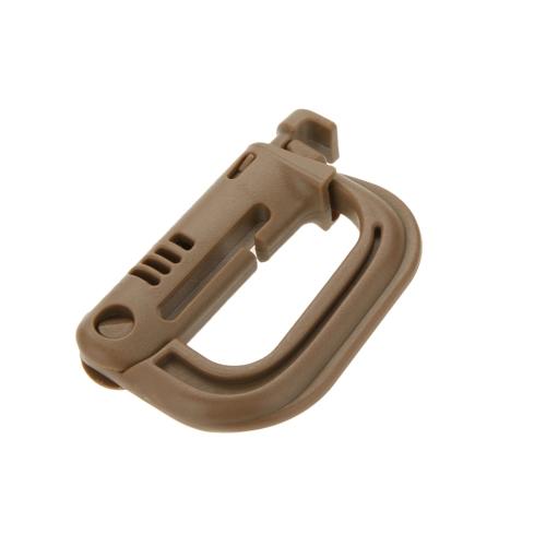 D-a forma di D-Ring moschettone forte zaino tattico Snap Shackle Clip portachiavi escursioni terra fibbia