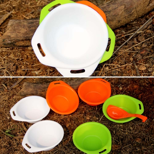 Fire Maple Camping Hiking Picnic Outdoor Cooking Portable PP Tableware Set 6 Bowls + 1 Spoon