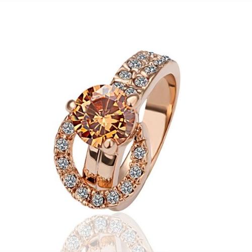 R002-8 WholesaleHigh QualityNickle gratuit AntiallergicNew bijoux 18K or véritable PlatedRing pour femmes livraison gratuite
