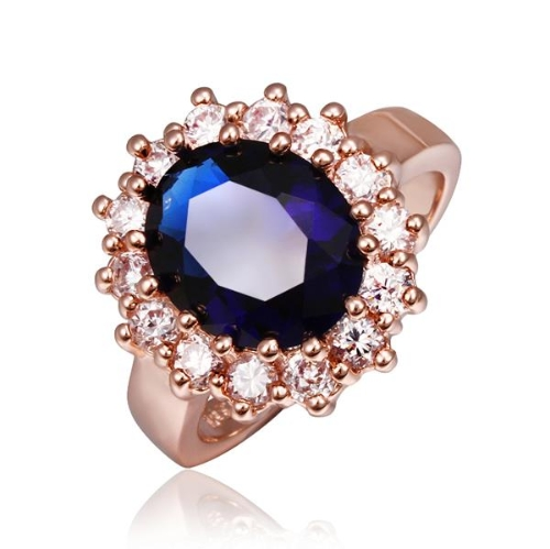 R392-8 WholesaleHigh QualityNickle Free AntiallergicNew Fashion Jewelry 18K Real Gold PlatedRing For Women Free Shipping