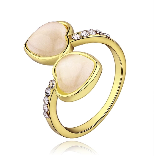 R627 Großhandel hochwertige Nickle frei antiallergische neue Modeschmuck 18K Gold PlatedRing
