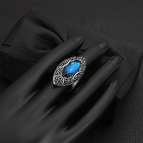 R024-DFashion Exaggerated vintage style gem rings charms Jewelry