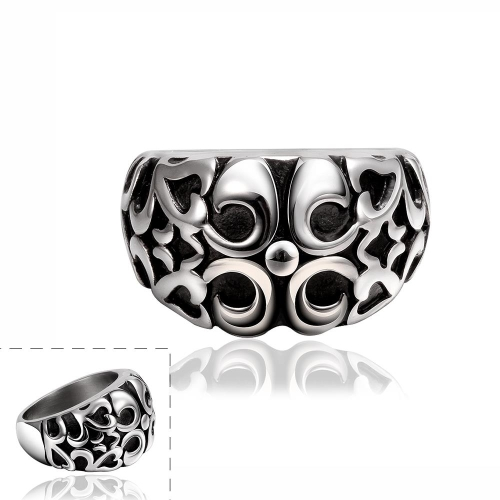R030-8Stylish wholesale various styles 316L stainless steel punk ring