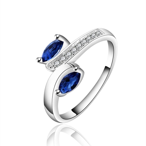R626-8  Silver plated new design finger ring for lady