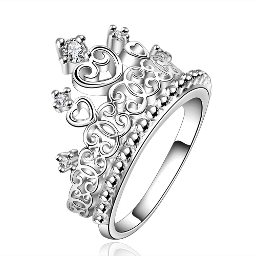 R629-8  Silver plated new design finger ring for lady