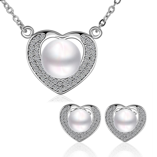 S065fashion new design women pearl jewelry set