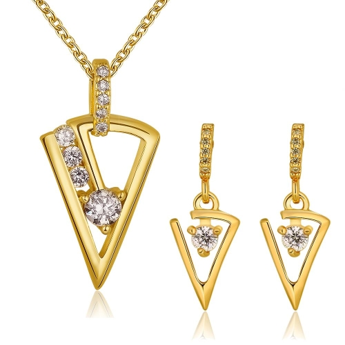 S402-B Fashion Nickel and lead free mixed styles 18k gold plating jewelry set