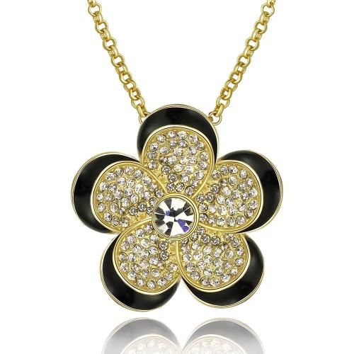 e3d3f1fd449b Colgantes de collar plateado oro Real N794 por mayor de níquel Free  antialérgico 18K nueva moda