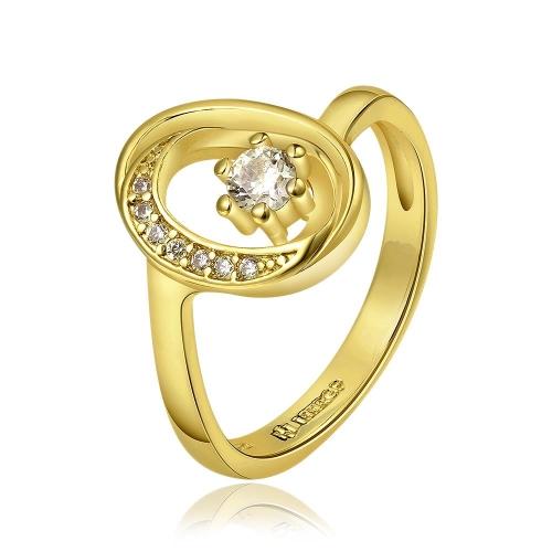 Venta por mayor alta calidad R687 A níquel libre antialérgicas nueva joyería 18K oro PlatedRing