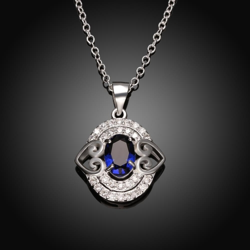 N006-A 925 Silver plated necklace brand new design pendant necklaces jewelry for women