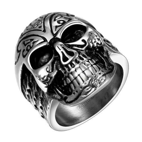 R060-8 atacado vários estilos 316L anel de aço inoxidável do punk à moda