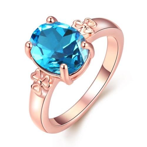 R049-8 joyería al por mayor de alta calidad antialérgica libre de la nueva manera plateó el anillo K