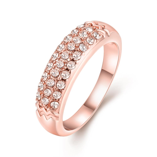 R018-B-8 Wholesale High Quality Nickle Free Antiallergic New Fashion Jewelry K Gold Plated Ring