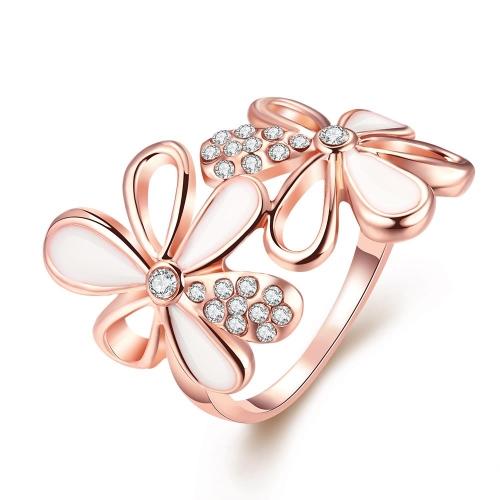 R055-8 por mayor alta calidad níquel libre antialérgicas nueva moda joyería K chapado en oro anillo