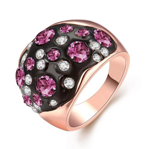 R059-B-8 por mayor alta calidad níquel libre antialérgicas nueva moda joyería K chapado en oro anillo