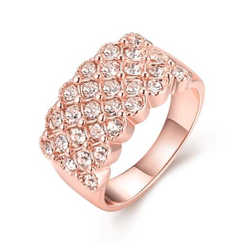 R016-A-8 joyería al por mayor de la alta calidad antialérgica libre de la nueva manera plateó el anillo K