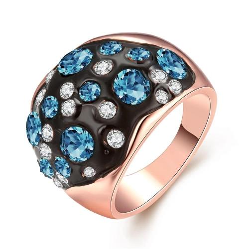 R059-A-8 Großhandel hochwertige Nickle kostenlose antiallergische neue Mode Schmuck K vergoldete Ring