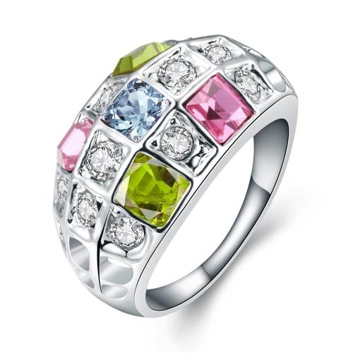 R054-8 Großhandel hochwertige Nickle kostenlose antiallergische neue Mode Schmuck K vergoldete Ring