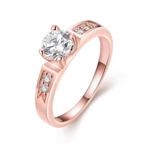 R046-8 joyería al por mayor de alta calidad antialérgica libre de la nueva manera plateó el anillo K