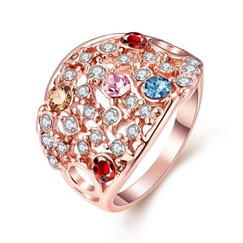 Alta qualidade por atacado de R052-8 niquelar livre antialérgicos nova moda jóias K ouro anel chapeado