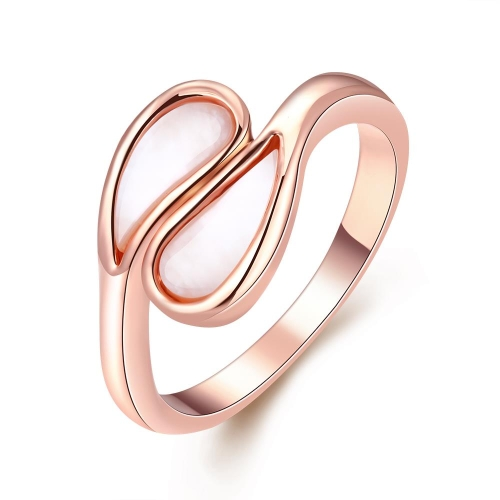 R060-8 por mayor alta calidad níquel libre antialérgicas nueva moda joyería K chapado en oro anillo