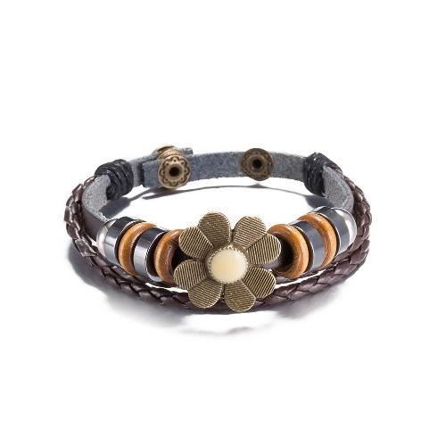 NUEVO cuero de la manera joyería Infinity linda lotes encanto estilo pulsera de plata PickD
