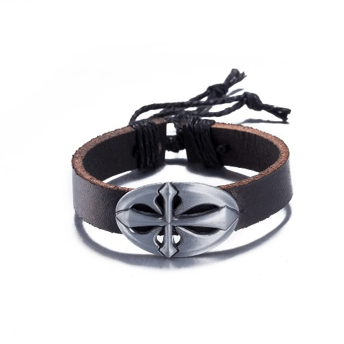 Fashion Jewelry Cute Silver Leather Wristband Unisex Infinity Charm Bracelet