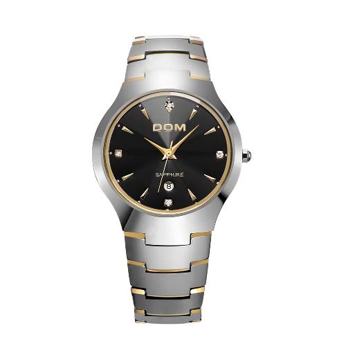 DOM High Quality Fashion Trendy Style Cool Brand Quartz Male Metal Watch Analog Wristwatch Water-resistance