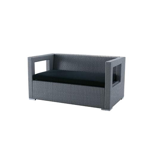 salon de jardin rilasa canap 2 places en r sine tress e. Black Bedroom Furniture Sets. Home Design Ideas
