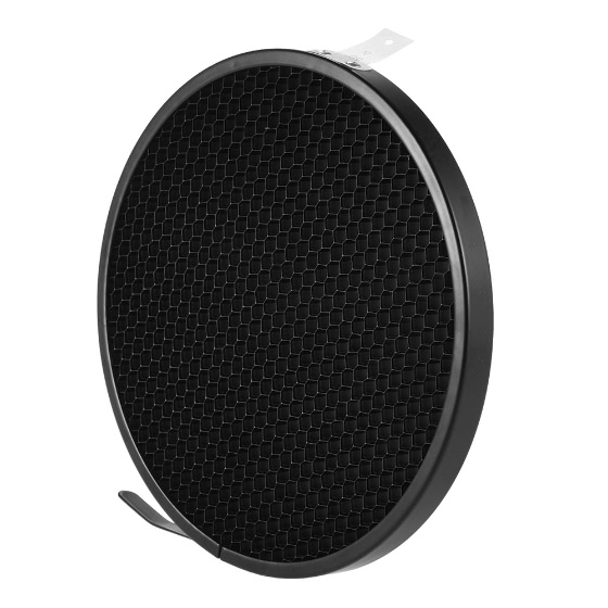 Haoge 7 Standard Reflector Diffuser Lamp Shade Dish For: Photo Studio 16.8cm 50 Degree Honeycomb Grid For 7