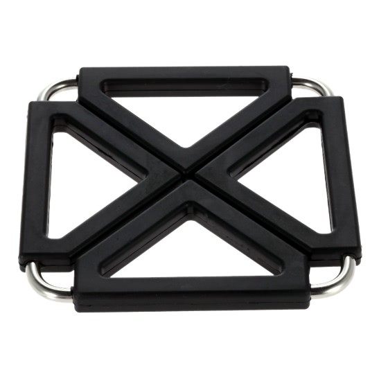 Expandable Silicone & Stainless Steel Heat Resistant Mat Hot Pot Holder  Pads Table Accessory Sales Online black - Tomtop