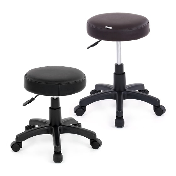 ikayaa pu cuir chaise pivotante tabouret de bar r glable en hauteur comptoir pneumatique pub. Black Bedroom Furniture Sets. Home Design Ideas