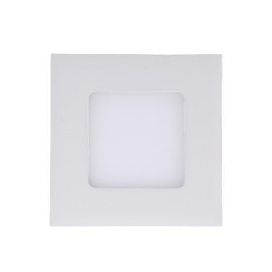 3w led carr s encastr s plafonnier panneau bas lampe ultra brillante mince pour salon chambre. Black Bedroom Furniture Sets. Home Design Ideas