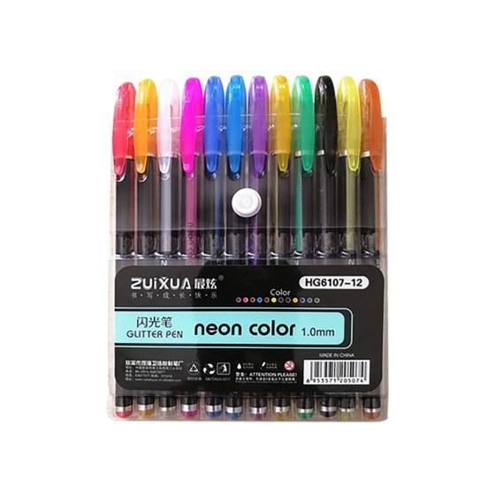 Artists 12pcs Glitter Paint Marker Pen for Student Designer Teacher